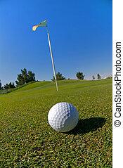 bola verde, golfe