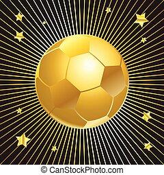 bola, xícara ouro, experiência preta, futebol