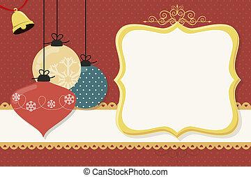 bolas, cartão natal
