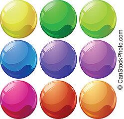 bolas, coloridos
