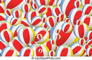 bolas, ilustração, coloridos