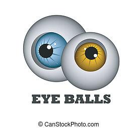 bolas, olho