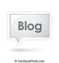 bolha, fala, blog, palavra