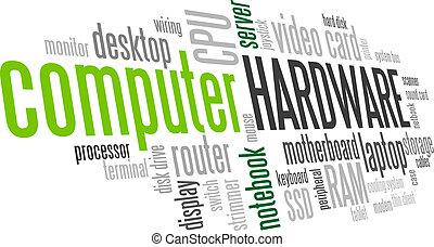bolha palavra, árvore, hardware, vetorial, tag, computador, nuvem