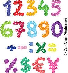 bolhas, números