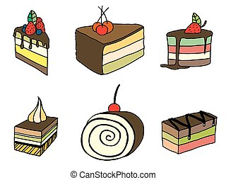 bolo, esboço, jogo