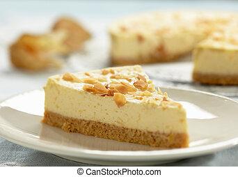bolo queijo, fatia