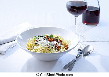 bolonhês, espaguete