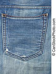 bolso, calças brim