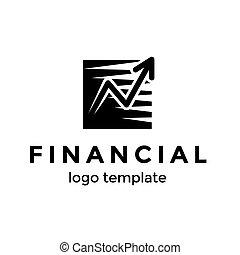 bom, sucesso financeiro, sifrão, ilustração, template., aumento, vetorial, desenho, seta, logotipo, progresso, ou