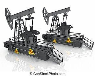 bombas, óleo