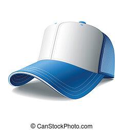 boné azul, basebol