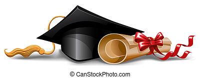 boné, diploma, graduação