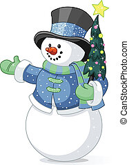 boneco neve, árvore natal