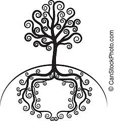 bonito, arte, árvore