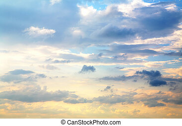 bonito, céu ocaso