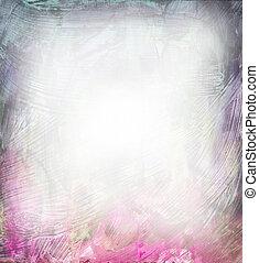 bonito, cor-de-rosa, roxo, aquarela, fundo, macio