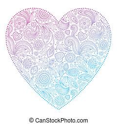 bonito, coração, dia, valentine
