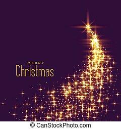 bonito, faíscas, feito, árvore, natal