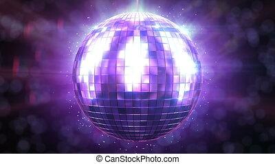 bonito, girar, bola, loop., discoteca