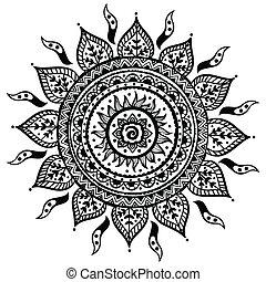 bonito, indianas, ornamento