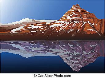 bonito, montanha, fundo