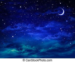bonito, nightly, fundo, céu