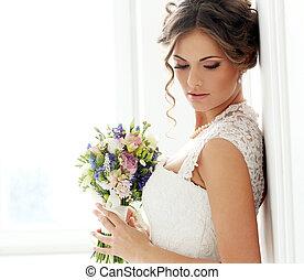 bonito, noiva, wedding.