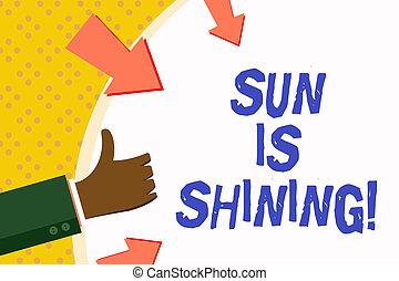 bonito, verão, conceito, palavra, negócio, paisagem., texto, sol, dias, shining., escrita, quentes, sol, natural, desfrutando