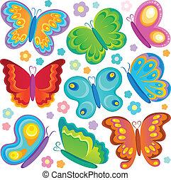 borboleta, 1, tema, cobrança