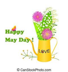 borboleta, maio, coloridos, dia, flor