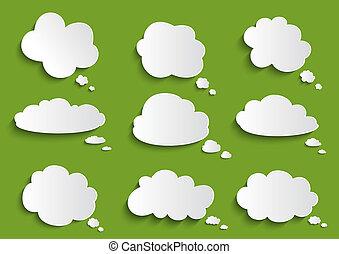 borbulho fala, nuvem, cobrança