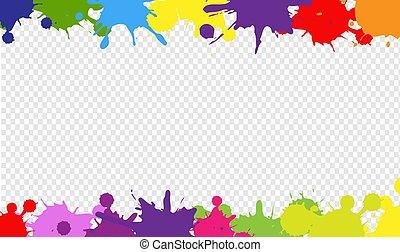 borda, fundo, coloridos, transparente, blob