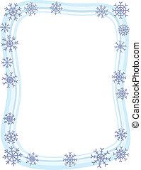 borda, inverno, snowflake
