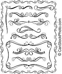 bordas decorativas, jogo, 3