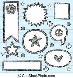 bordas, formas, sketchy, jogo, fronteiras