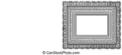 bordas, ornate, vetorial, layered