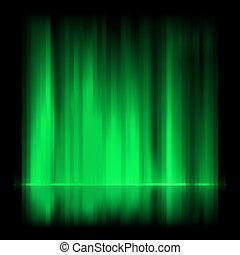 borealis, aurora, eps, experiência., verde, 8