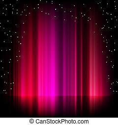 borealis, roxo, aurora, eps, experiência., 8