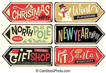 bornes sinal, feriado, natal, cobrança