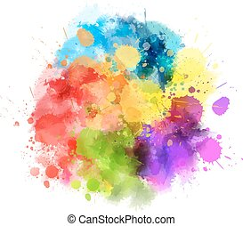 borrão, multicolored