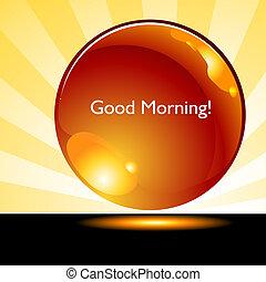 botão, bom, amanhecer, fundo, manhã