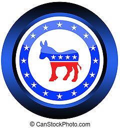 botão, democrático
