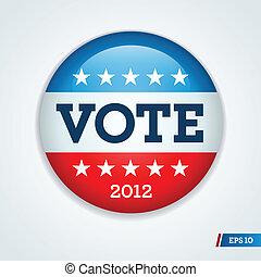 botão, eleição, campanha, 2012