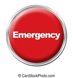 botão, emergência