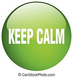 botão, isolado, mantenha, verde, pacata, empurrão, redondo, gel