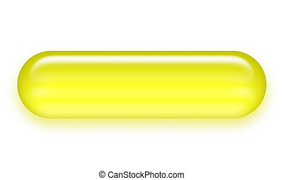 botão, pílula, amarela