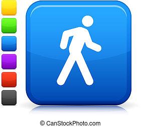 botão, quadrado, ícone, internet, passeio