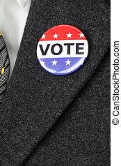 botão, voto