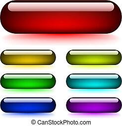 botões, glowing, lustroso